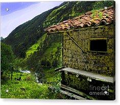 Mud Hut In The Cajas Acrylic Print by Al Bourassa