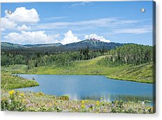 Acrylic Print featuring the photograph Fishing A Mountain Lake by Jeanne May