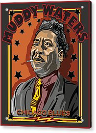 Muddy Waters Chicago Blues Acrylic Print by Larry Butterworth
