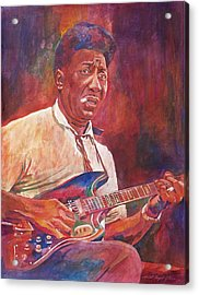 Muddy Waters Acrylic Print by David Lloyd Glover