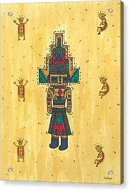 Mudhead Kachina Doll Acrylic Print