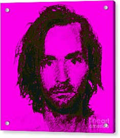 Mugshot Charles Manson M88 Acrylic Print by Wingsdomain Art and Photography