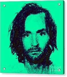 Mugshot Charles Manson P128 Acrylic Print by Wingsdomain Art and Photography