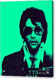 Mugshot Elvis Presley P128 Acrylic Print
