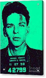 Mugshot Frank Sinatra V1m128 Acrylic Print by Wingsdomain Art and Photography