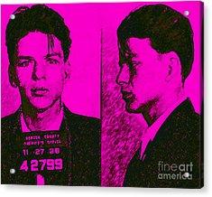 Mugshot Frank Sinatra V2m80 Acrylic Print by Wingsdomain Art and Photography