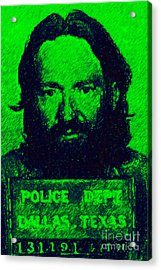 Mugshot Willie Nelson P88 Acrylic Print by Wingsdomain Art and Photography