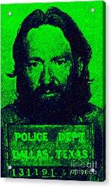 Mugshot Willie Nelson P88 Acrylic Print