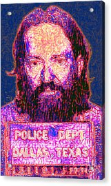 Mugshot Willie Nelson Painterly 20130328 Acrylic Print by Wingsdomain Art and Photography