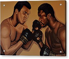 Muhammad Ali And Joe Frazier Acrylic Print by Paul Meijering