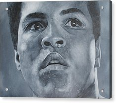 Acrylic Print featuring the painting Muhammad Ali by David Dunne