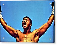 Muhammad Ali Acrylic Print by Florian Rodarte