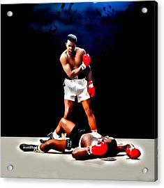 Muhammad Ali Get Up And Fight Sucker Acrylic Print