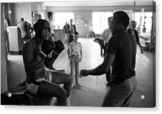 Muhammad Ali Guards Up Acrylic Print by Retro Images Archive