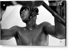 Muhammad Ali Looking Through Ropes Acrylic Print by Retro Images Archive