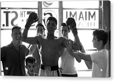 Muhammad Ali Raising Arms Acrylic Print by Retro Images Archive