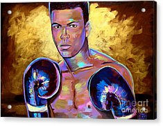 Acrylic Print featuring the painting Muhammad Ali by Robert Phelps