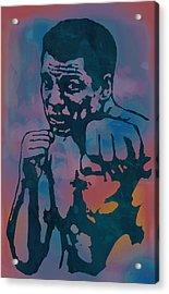 Muhammad Ali  - Stylised Etching Pop Art Poster Acrylic Print by Kim Wang