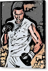 Muhammad Ali Acrylic Print by Tanysha Bennett-Wilson