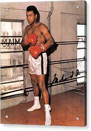Muhammad Ali Acrylic Print by Unknown