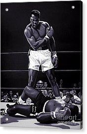 Muhammad Ali Versus Sonny Liston Acrylic Print by Meijering Manupix