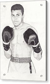 Muhammad Ali Acrylic Print by Vincent Turner