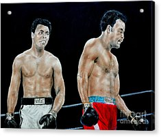 Muhammad Ali Vs George Foreman Acrylic Print by Jim Fitzpatrick