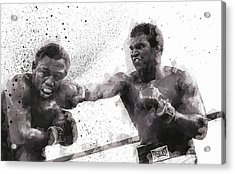 Muhammad Ali Vs Joe Frazier Acrylic Print by Daniel Hagerman