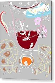 Muji With Wine Glass Acrylic Print