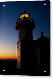 Acrylic Print featuring the photograph Mukilteo Light House Sunset by Sonya Lang
