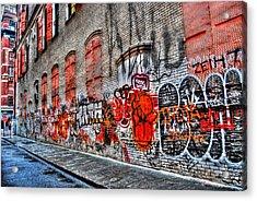 Mulberry Street Graffiti Acrylic Print