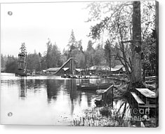 Acrylic Print featuring the photograph Mullens Resort On Paterson Lake Summer 1928 by Vibert Jeffers