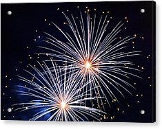 4th Of July Fireworks 3 Acrylic Print by Howard Tenke