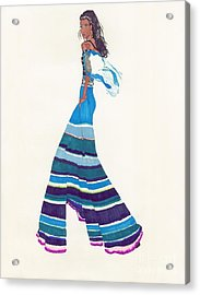 Multi-colored Pants Acrylic Print by Asia Johnson