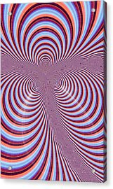 Multi-coloured Abstract Design Acrylic Print by Paul Sale Vern Hoffman
