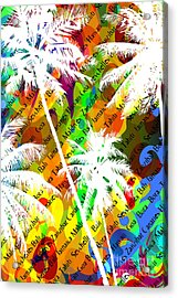 Multicolor Abstract Tropical Background Acrylic Print