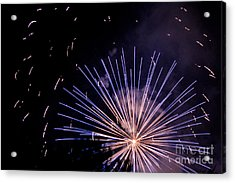 Acrylic Print featuring the photograph Multicolor Explosion by Suzanne Luft