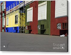 Multicoloured Facades With Air-conditioners Acrylic Print by Sami Sarkis