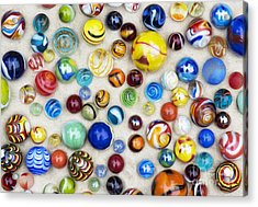 Multicoloured Marbles Acrylic Print
