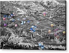 Multiple Balloons Acrylic Print by Ernesto Cinquepalmi