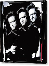 Acrylic Print featuring the photograph Multiple Johnny Cash Sitting Old Tucson Arizona 1971-2008 by David Lee Guss