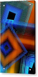 Multiple Lines On Geometrical Art Acrylic Print by Mario Perez