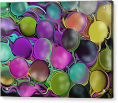 Acrylic Print featuring the digital art Multiplicity by Linda Whiteside