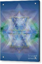 Multivortex 3d Chalice With Horizontal Vortexes Acrylic Print by Christopher Pringer
