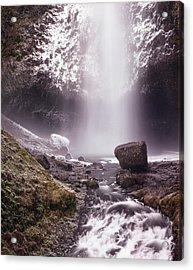 Multnomah Falls In Ice Acrylic Print