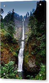 Multnomah Falls Oregon State Waterfall Acrylic Print by Puget  Exposure