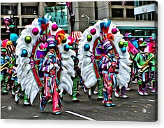 Mummer Color Acrylic Print by Alice Gipson