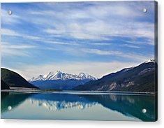 Muncho Lake Bc Canada Acrylic Print by Leslie Kirk