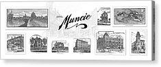 Muncie Indiana B Acrylic Print by Thomas Keesling