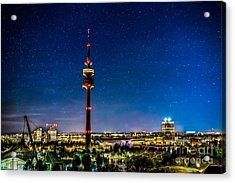 Munich City Nights - Olympiapark Acrylic Print by Hannes Cmarits